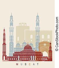 Muscat skyline poster