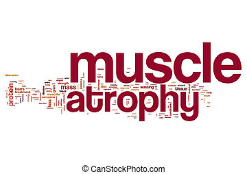 Muscle atrophy word cloud concept - Muscle atrophy word...