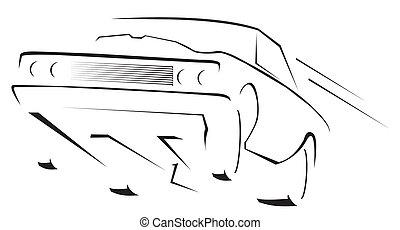 muscle, auto, symbool