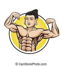 muscle, boeddha