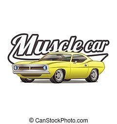 Muscle Car Cartoon Classic Vector Poster T Shirt Print T Shirt