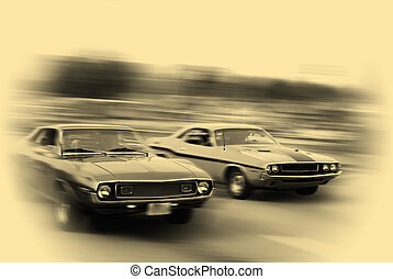 MUSCLE CAR CRUISE - Muscle cars cruising on historic ...