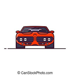 Muscle car front view