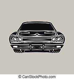 Muscle car retro vector illustration