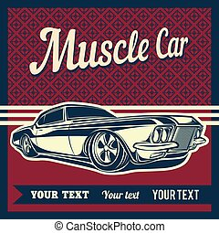Muscle car vector - muscle car