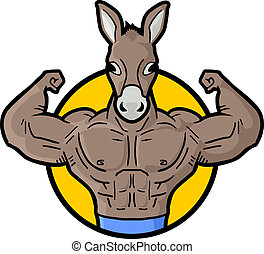 Muscle donkey - Creative design of muscle donkey