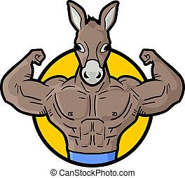 Muscle donkey - Creative design of muscle donkey