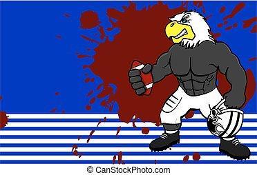 muscle eagle american football card