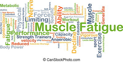 Muscle fatigue background concept