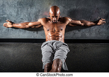 Muscle Fitness Physique - Portrait of a lean toned and ...
