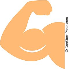 Muscle hand vector icon
