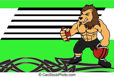 muscle lion american football card