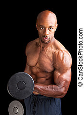 Muscle Man Bicep Curls