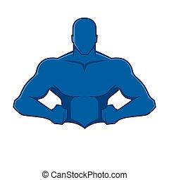 Muscle man figure