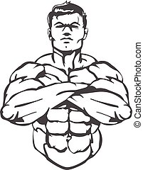 Muscle Man - This is a great logo/image for a boxing gym...