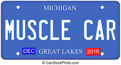 muscle, michigan, voiture