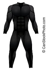 Muscle Suit Black Costume