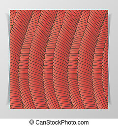 Muscle Tissue Pattern for Biology Illustration or Notebook...