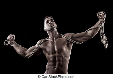 muscled, experiência preta, homem