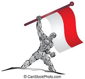 flag - muscleman and flag