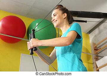 muscles, упражнение, гимнастический зал