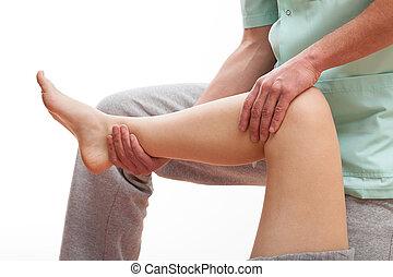 muscles, récupération, jambe