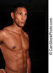 muscolare, maschio, idoneità, modello