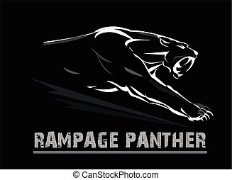 muscolare, pantera, panther., faccia, zanna