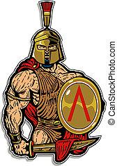 muscolare, spartan, scudo