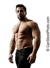 muscolare, uomo