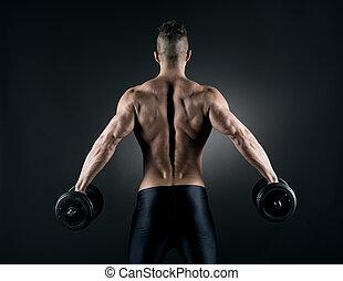 muscolare, uomo, weightlifting