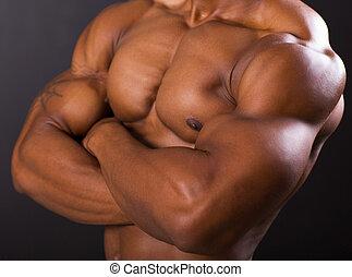 muscular african man body