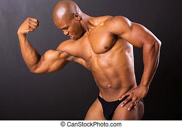 muscular african man