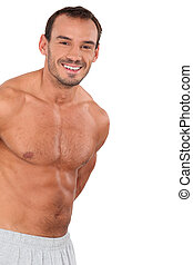 muscular bare-chested man