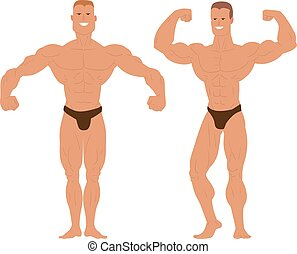 Gym fitness bodybuilder man