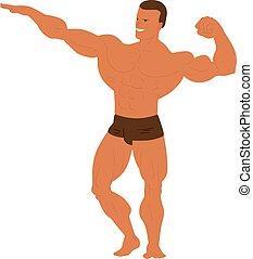 Gym fitness bodybuilder man