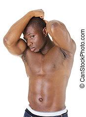 Muscular black man