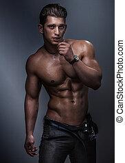 muscular, body.