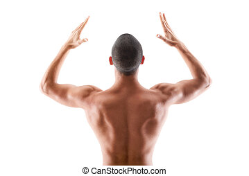 Muscular build - Young muscular male torso