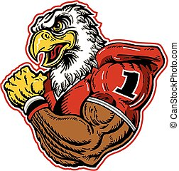 eagle football mascot - muscular eagle football mascot ...