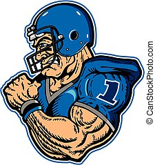 football player - muscular football player mascot