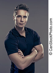 Muscular handsome man
