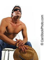 Muscular hispanic man