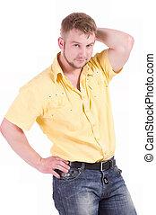 muscular, homem jovem