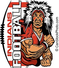 indians football - muscular indians football player team...