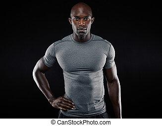 muscular, jovem, sportswear, homem