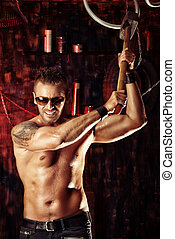 muscular macho