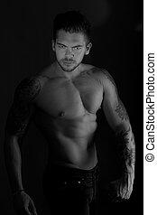 muscular male model