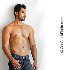 Muscular man - A young man with a beautiful physique
