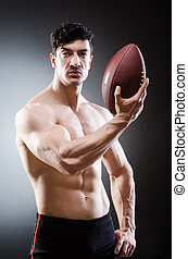 and-naked-american-footballer